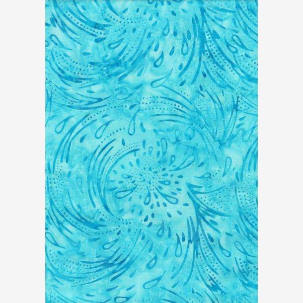 Turkis 'ringe i vandet' (batik)