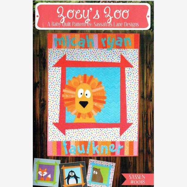 Joey's Zoo - mønster til børnetæppe
