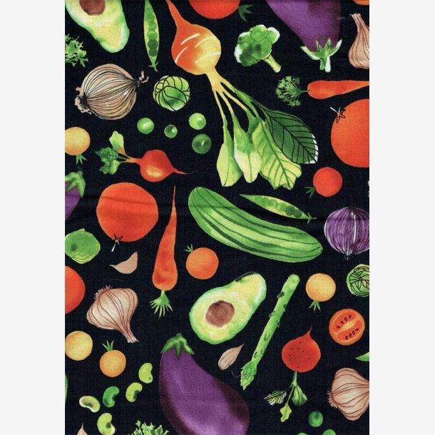 Grøntsager på sort