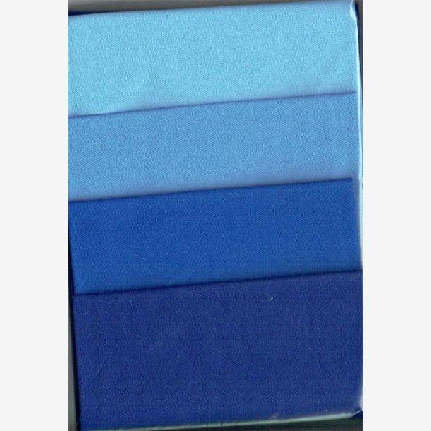 Blå stofpakke (ensfarvede)