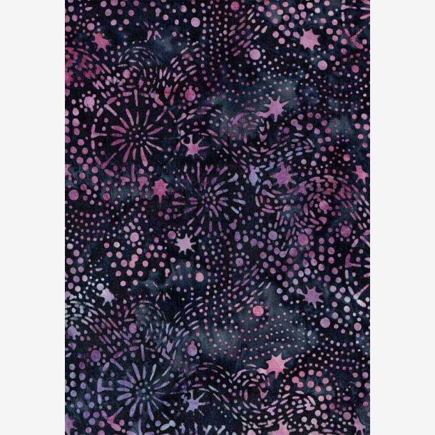 Mørk lilla/rødviolet batik