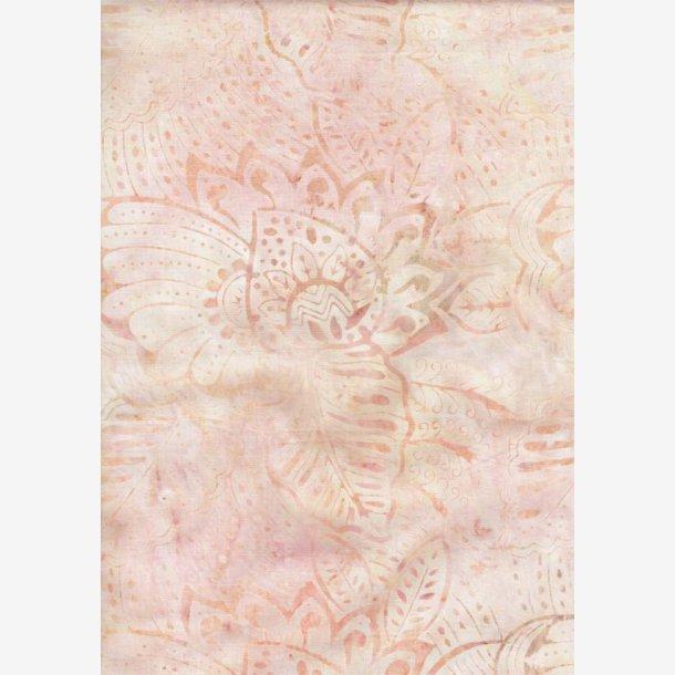 Lys fersken batik med blade