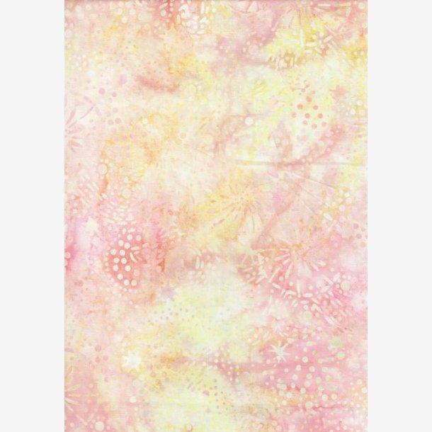 Lys fersken/gul batik