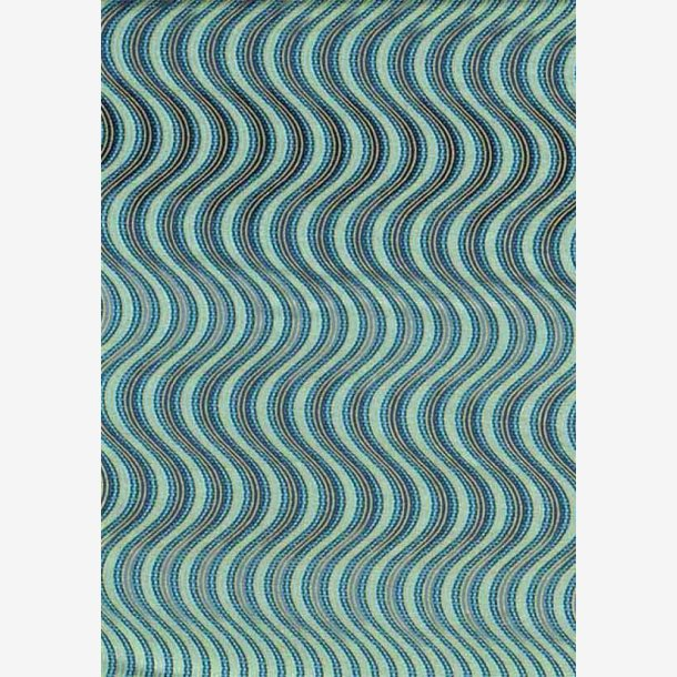 Blå bølger med metaleffekt