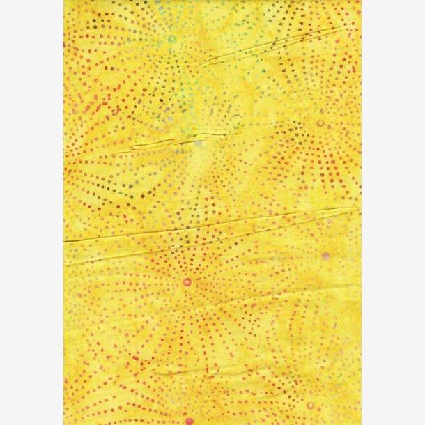 Prikker på gul (batik)