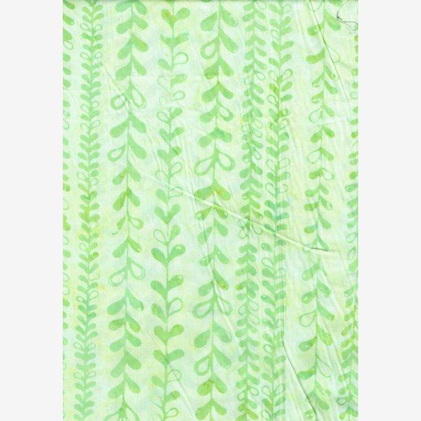 Lysegrønne bladranker (batik)
