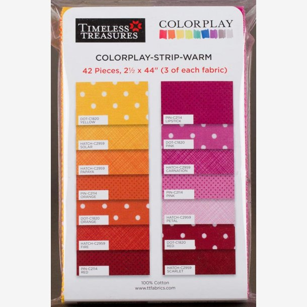 Colorplay - strip - warm