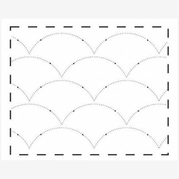 Quiltemønster - muslingeskaller (oval)