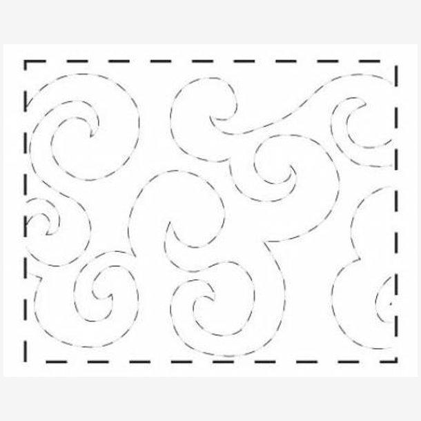 Quiltemønster - Waves (bølger)