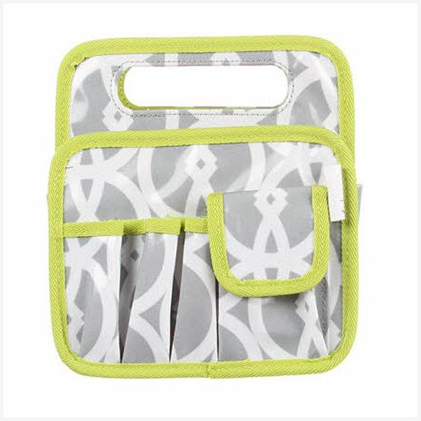 Taske til sygrej - grå/hvid/lime