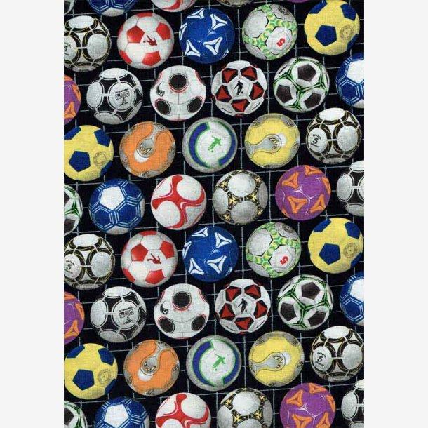 Fodbolde på sort