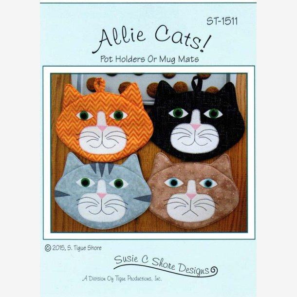 Allie Cats - mønster til grydelapper