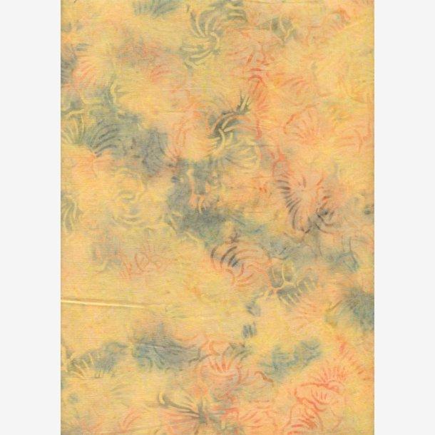 Støvet gul batik med abstrakt mønster