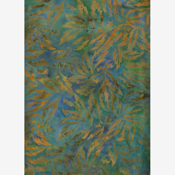 Turkis/gylden batik