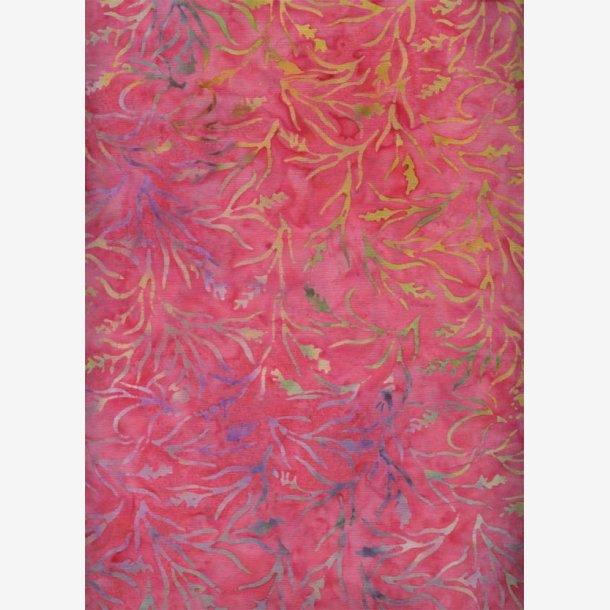 Grene på koralfarvet (batik)