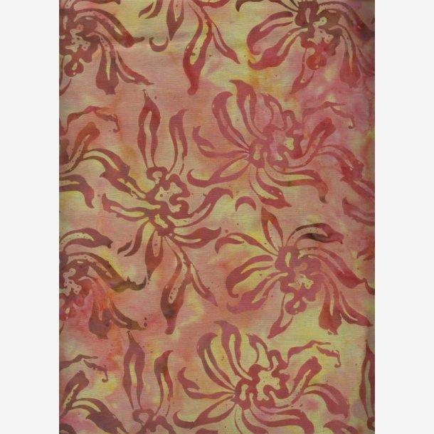 Rødlige blomster (batik)