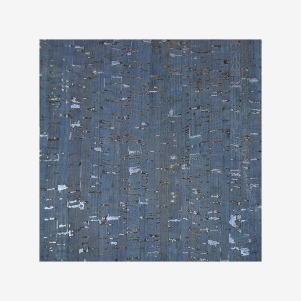 Kork - dueblå med sølv