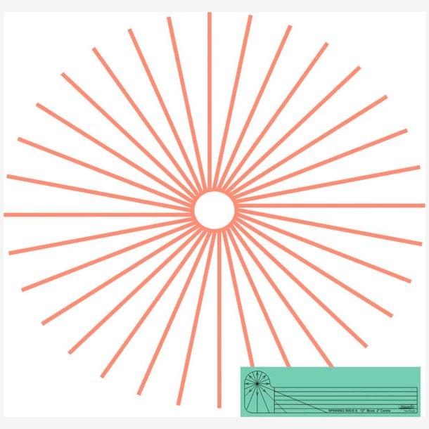 Spinning waves 6/skabelon til maskinquiltning