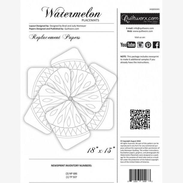 Watermelon dækkeservietter - ekstra papir