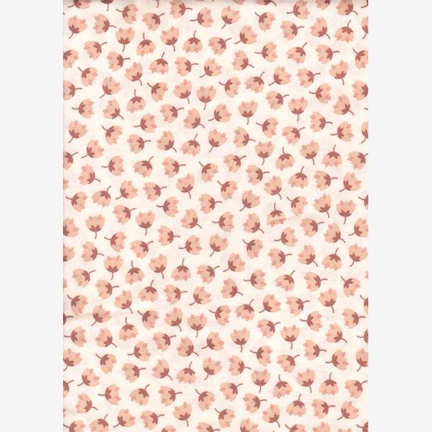 Små stiliserede beige blomster