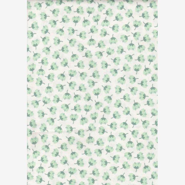 Små stiliserede grønne blomster