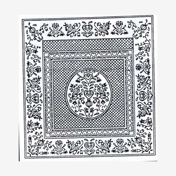 Pennsylvania Folk Art II - fortrykt quilt top
