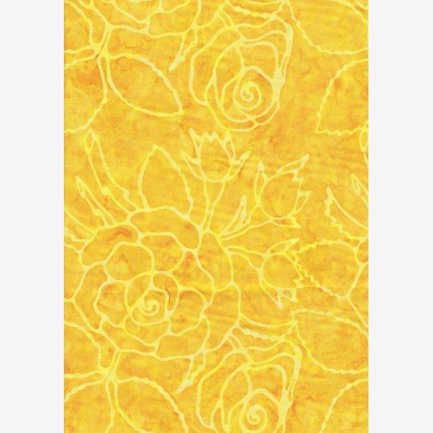 Gul tone-i-tone rosenmønster