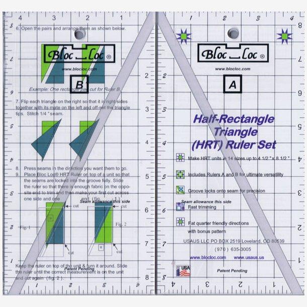 BlocLoc Half-Rectangle Ruler