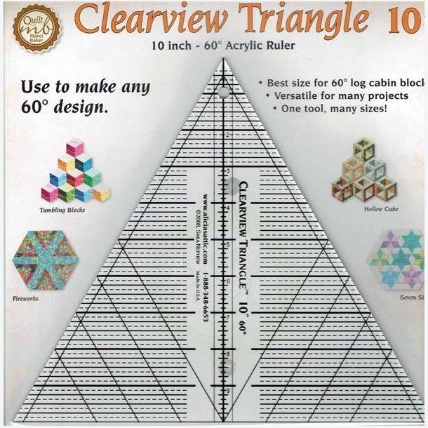 Clearview - Trekantlineal - 60 grader - 10
