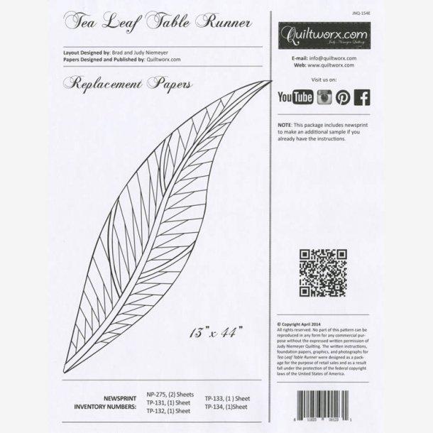 Ekstra papir til 'Tea Leaf' bordløber
