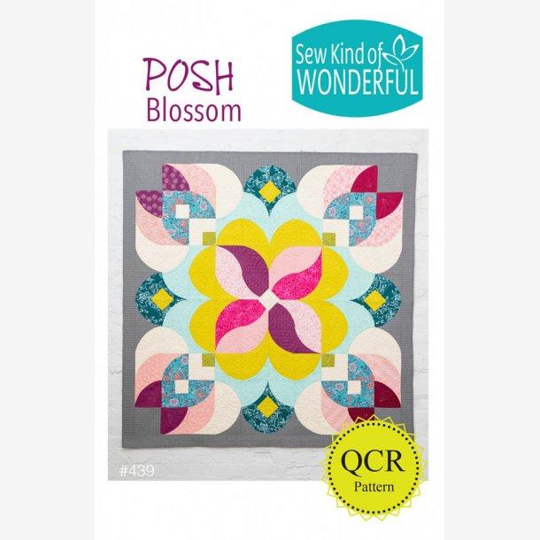 "Posh Blossom (65"" x 65"" - ca. 172 x 172 cm)"