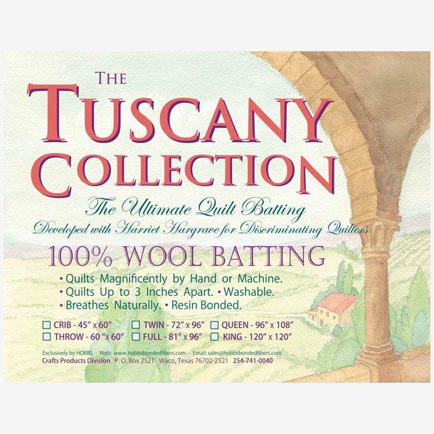 100 % Uld mellemfoer Tuscany (152 cm x 152 cm)